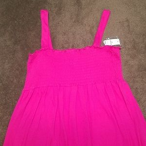 🌲🎅Tank top pleated sundress.🌲🎅 In pink.🌲🎅